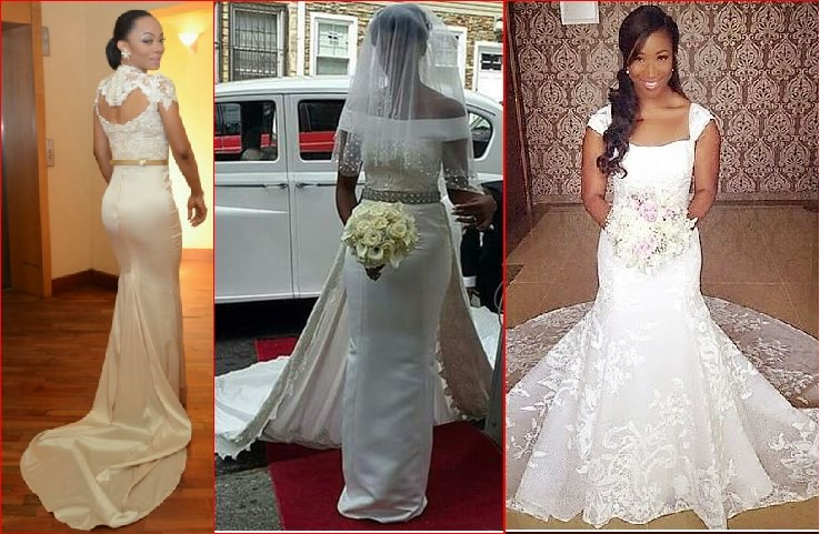 Simple Style Of Nigerian Wedding Gown