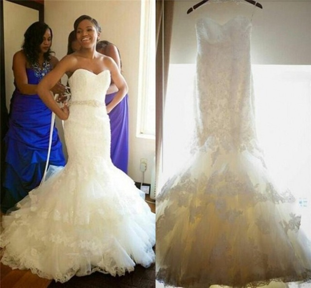 Robe De Mariee Font B African B Font Sexy Mermaid Wedding Dresses Long Open Back Sweetheart