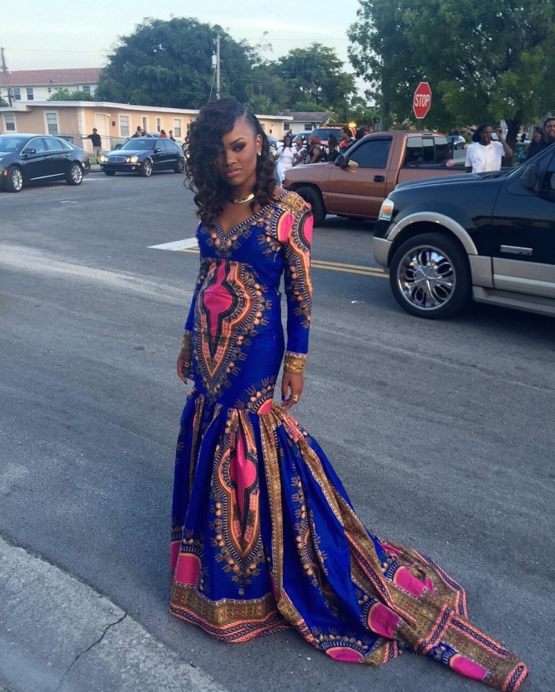 Africa Ankara Gown Styles For Slim & Tall Ladies