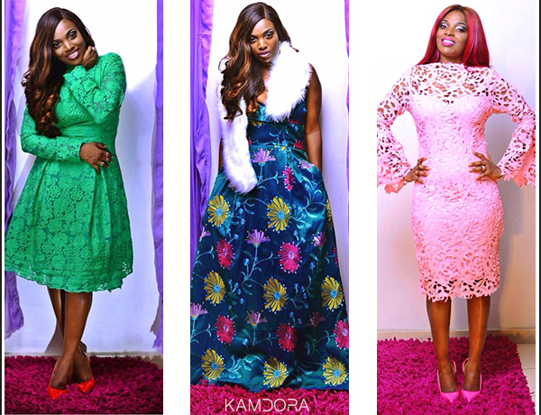 Annie Idibia Stars In Abbyke Domina 2016 Luxe Lace Collection