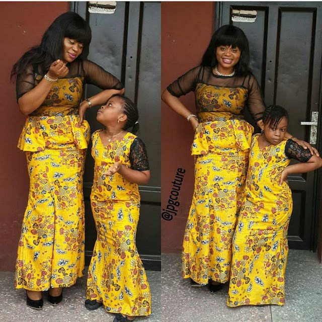 African Dresses Ankara Gown For Style Mother And Daughter 1