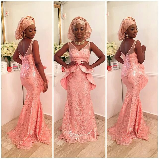 Magnificent Aso Ebi Styles In Lace Amillionstyles.com By April