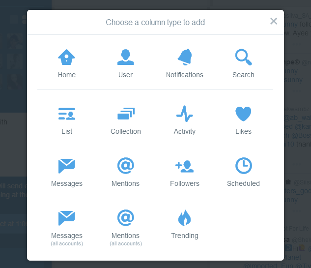 Tweetdeck Add Coloumn