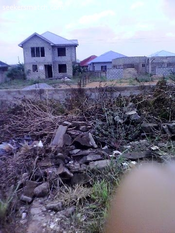 Fenced Half Plot Of Land At Ashaley Botwe Zoomlion Accra 79 5