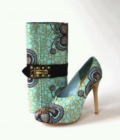 Fashion on bags and shoes made with African Ankara (PHOTOS)