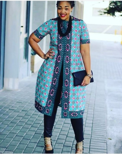 Ladies Latest Styling on African Ankara/Print: V25