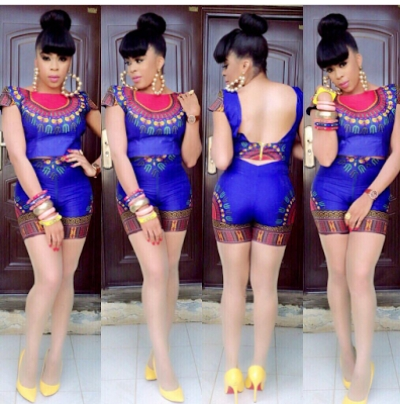 Ladies Latest Styling on African Ankara/Print: V14