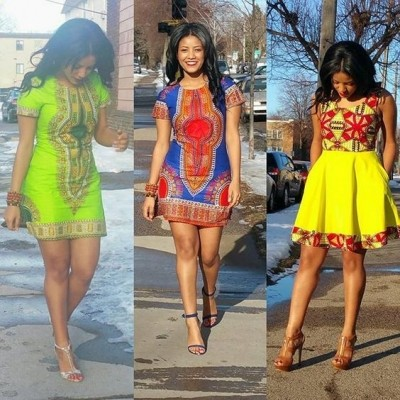 Female Current Best styles on African Print (WATCH PHOTOS)