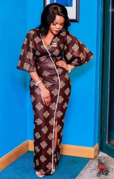 Ladies Latest Styling on African Ankara/Print: V10