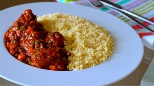 Very Nutritious Food: How to make Couscous with Goat meat in veggie sauce (Details)