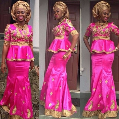 Latest African Fashion with Lace: V4
